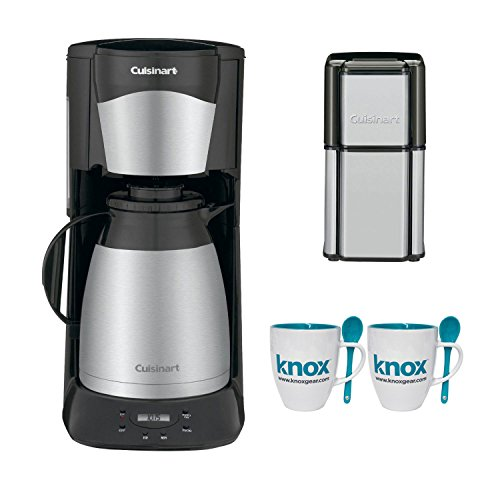 Cuisinart DTC975BKN DTC-975BKN 12 Cup Programable Thermal Coffeemaker with Grind Central Coffee Grinder & Knox 16oz. Mug With Spoon (2 Pack)