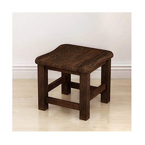 MCLY Shower Seats, Small Dark Old Waterproof Footstool, Household Solid Wood Adult Skid Shoe Bench