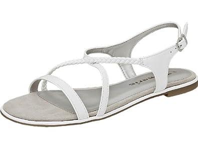 Tamaris Damen Sandalen Weiß Lack Sandalette weiß