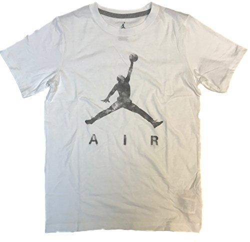 Nike Air Jordan Boys' 8-20 Jumpman Cotton T-Shirt (White, Large)
