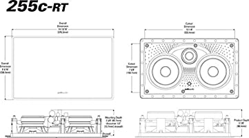 255c-RT Polk Audio Dual 5.25-Inch Two-Way Center Channel In-Wall Speaker