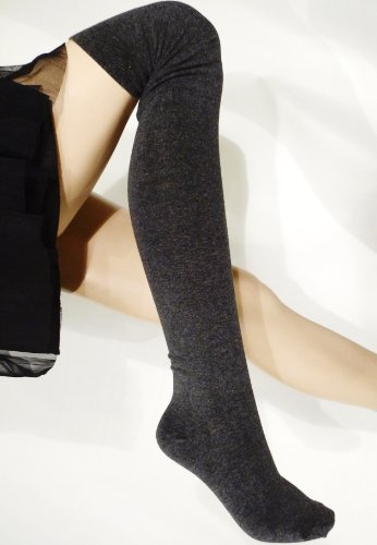 Lace Poet Gray Fleece Sweater Warm Over the Knee (Fleece Knee Warmers)