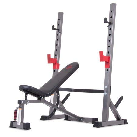 Body Champ BCB5280 Two Piece Set Olympic Weight Bench with Squat Rack