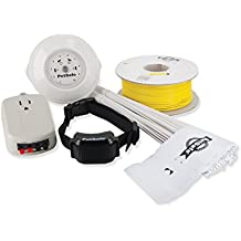 PetSafe YardMax Rechargeable In-Ground Fence for Dogs and Cats Over 5 lb, Up to 30% More Play Area, Waterproof Receiver Collar with Tone and Static Correction