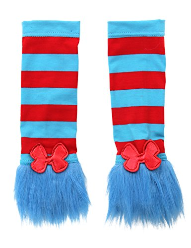 [Dr. Seuss Thing 1 & Thing 2 Fuzzy Glovettes by elope] (Thing One Dr Seuss Costume)