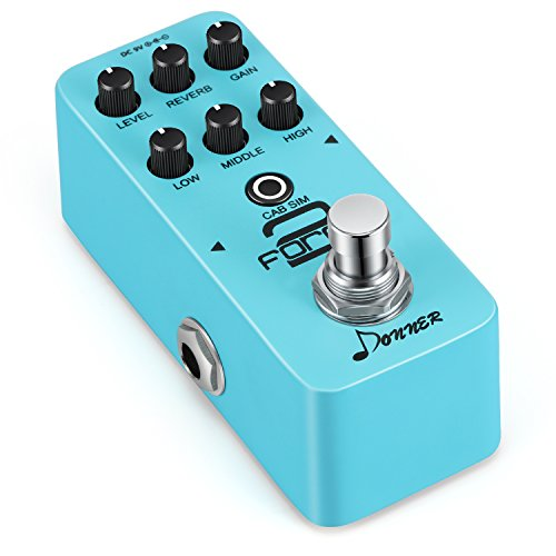 Donner Force 2 Mini Electric Guitar Preamp Effect Pedal by Donner