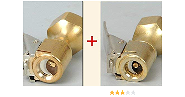 """1//4/"""" NPT Female Open Flow Straight Lock On Tire Chuck with Clip 2pcs Air Chuck"""