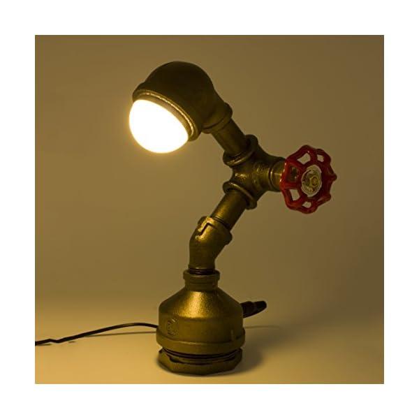 "Y-Nut Loft Style Vintage Metal LED Table Lamp,""Alfred"", Steampunk Industrial, Night Light, Desk Light, LL-007-DL 4"