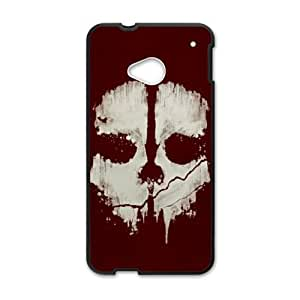 HTC One M7 Cell Phone Case Black Skull Cover LZD Unique Phone Cases