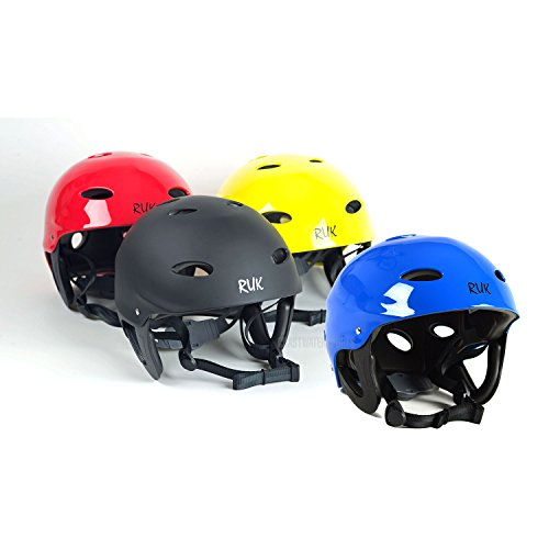 RUK Sport RAPID Kayak / Canoeing Watersports Helmet - Various Colours Yellow - MED - 53-59cm by Ruk Sports