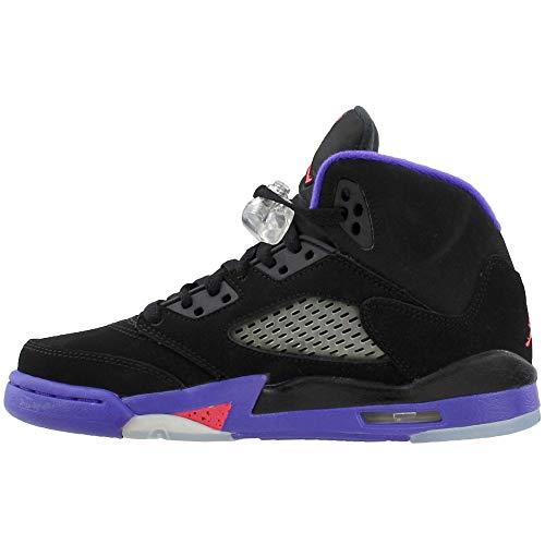 black Ember Noir Basketball De fierce Nike Chaussures Air Gg 5 Retro Jordan Glow Violet Femme zPqwUv