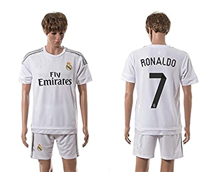 e0177812343 Youth Ronaldo #7 Real Madrid Home Soccer Jersey - size Youth Large 10-12