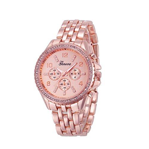 Rose Quartz Leaf (Lookatool Fashion Classic Luxury Stainless Steel Quartz Analog Wrist Watch (! Rose Gold))