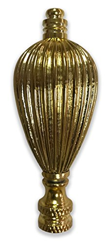Royal Designs Vase Shaped Lamp Finial for Lamp Shade- Polished - Shaped Finial Brass Antique Lamp