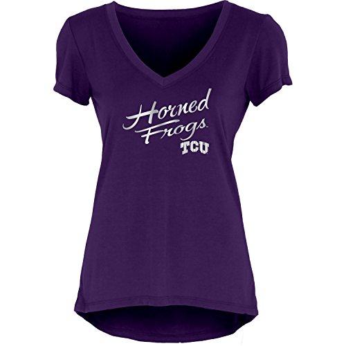 NCAA Tcu Horned Frogs Women's Liquid Jersey V-Neck, Purple, X-Large