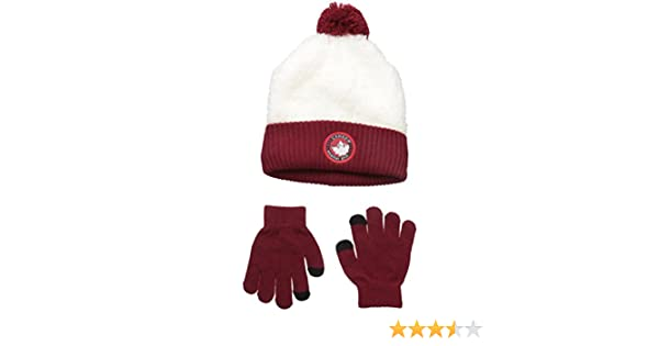 Amazon.com: Canada Weather Gear Big Girls Sherpa Cuffed Beanie and Tech Touch Gloves, Burgundy, One Size: Clothing