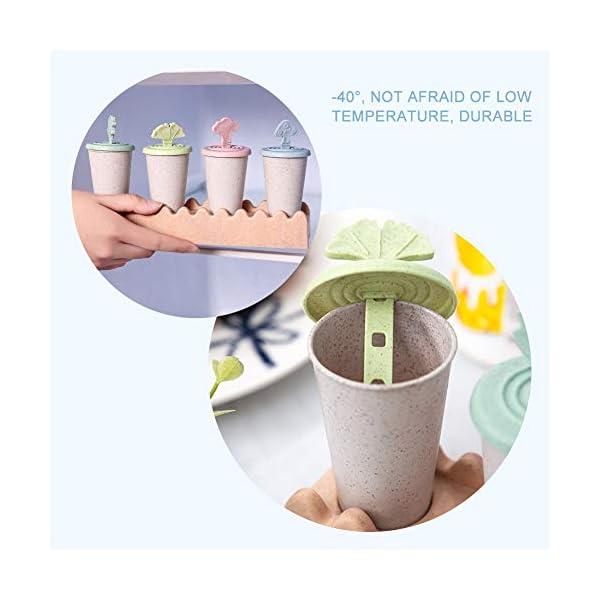 Maojie - Stampo per gelato fai da te, con 4 scomparti, con vassoio 7 spesavip