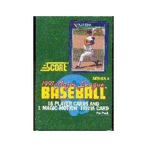 Amazoncom 1991 Score Series 1 Baseball Wax Box Trading