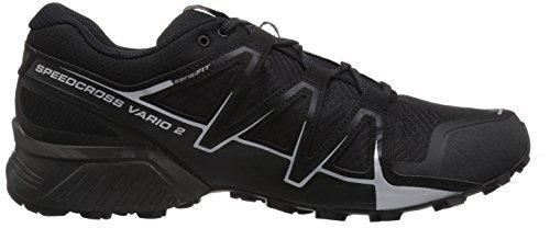 Chaussures Salomon Running 2 pour Metallic Trail Black Speedcross x Vario Silver de Noir Homme qanrtwUagx