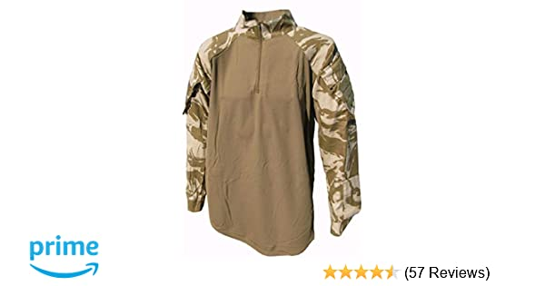 eeae9a43 Amazon.com: British Military Under Body Armour Combat Shirt - DESERT CAMO:  Sports & Outdoors