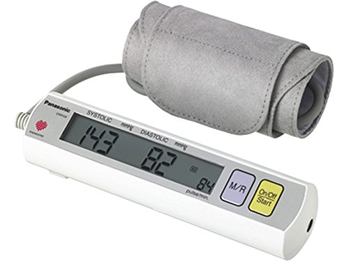 Blood Inflate Monitor Pressure (Panasonic EW3109W Portable Upper Arm Blood Pressure Monitor White/Grey)