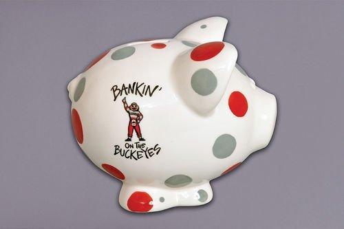 Ceramic Collegiate Piggy Bank (Ohio State Buckeyes) by Magnolia Lane ()
