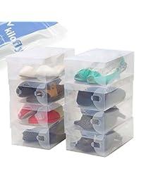 kilofly Smart Storage Foldable Clear Shoe Box [Set of 10]