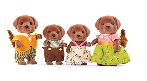 Calico Critters CC1454 Chocolate Labrador Family Doll Set (Farm Play Family)