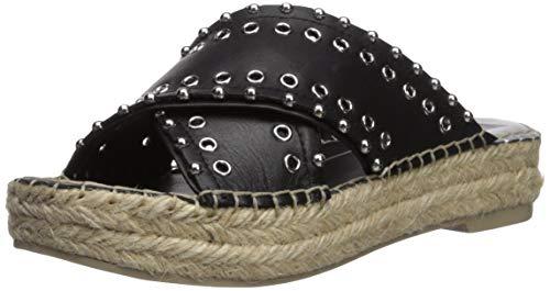- Dolce Vita Women's IVA Espadrille Wedge Sandal, Black Leather, 8 M US