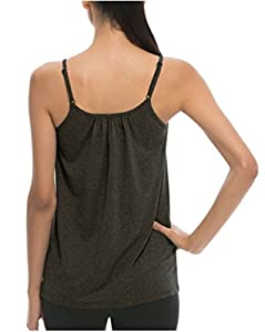 Weatherproof 32 Degrees Cool Women's Active Bra Tank Top (Medium, Heathered Iron)