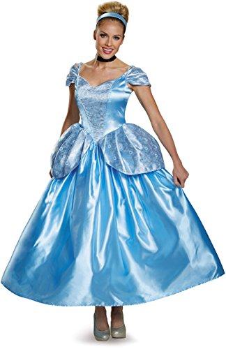 Disney Princess Fancy Dress Costumes Adults (Disney Disguise Women's Cinderella Prestige Adult Costume, Blue, Large)