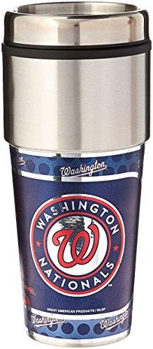 Washington Nationals Tumbler - MLB Washington Nationals Metallic Tumbler, One Size, Black
