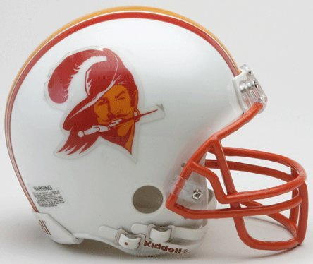 Riddell Tampa Bay Buccaneers Mini Replica Throwback Helmet (Mini Throwback Football Helmet)