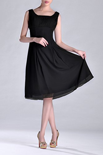 Pleated Brides Knee the of Bridesmaid Formal Special Black Length Dress Mother Occasion qInwxH8