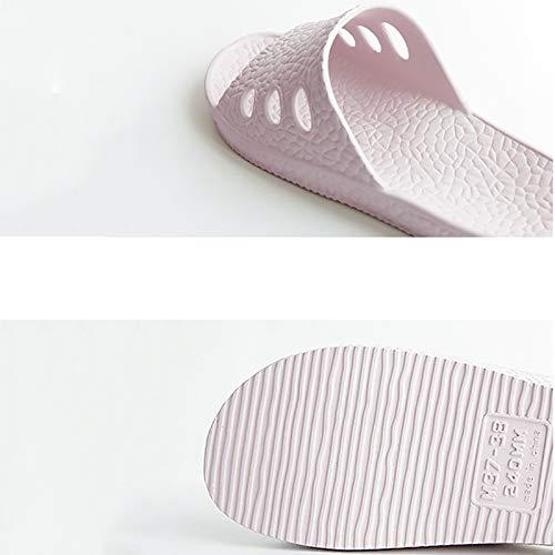 Donna Pantofole 36 Pink Bagno Lixizhong Da Bianco colore Estate Traspiranti Antiscivolo Doccia Per Crema Dimensioni X66dwx