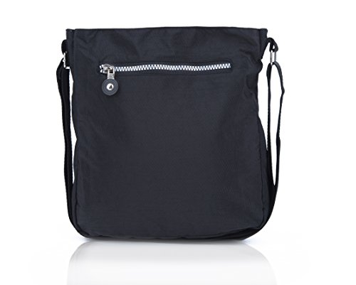 Pocket Black Anywhere Go Lightweight Everyday Shoulder Travel Bag Crossbody Multi Suvelle Handbag 20103 fq81xRSn