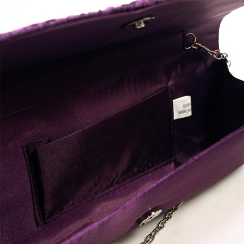 Satin Diff Flap Bag Avail Clutch Purple Evening Colors Crystal Elegant Pleated 0fwqE5