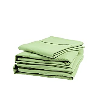 Image of Home and Kitchen Denver 343510 RV King Size Sateen Sheet Set Sage
