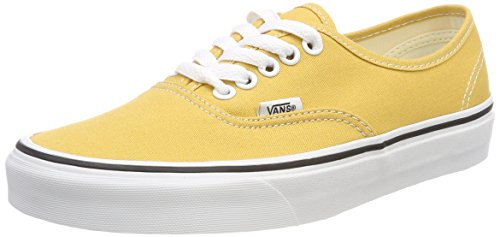 (Vans Unisex Adults' Authentic Trainers, Yellow (Ochre/True White Qa0), 9 UK 43 EU)