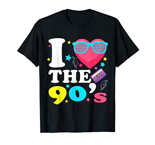 (1990's 90s T-Shirt I Heart the Nineties)