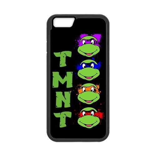 Fayruz- Personalized Protective Hard Textured Rubber Coated Cell Phone Case Cover Compatible with iPhone 6 & iPhone 6S - TMNT Teenage Mutant Ninja Turtles F-i5G1197
