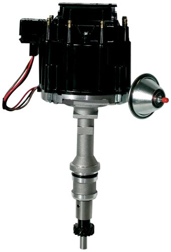 Proform 66969BK Vacuum Advance HEI Distributor with Steel Gear and Black Cap for Ford (Ford Custom Distributor Cap)