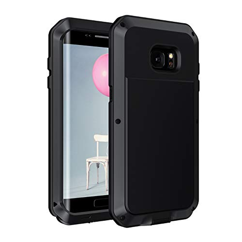 c0a41a0c807 Galaxy S7 Edge Case, Seacosmo Military Rugged Heavy Duty Aluminum  Shockproof Dual Layer Bumper Cover