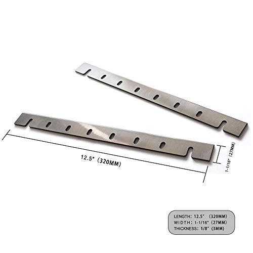 (OSCARBIDE Planer Blades for DW733 Planers 12-1/2 inch HSS Planer Knives DW7332 Replacement Single Cutting Honed Edge 12-1/2