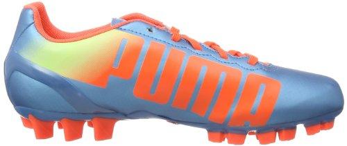 Puma Evospeed 4.2 Ag Jr - Botas de fútbol Unisex Niños Azul (Blau (sharks blue-fluro peach-fluro yellow 03))