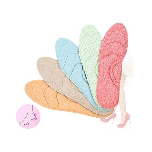 Soumit® Plantillas Transpirable Flexible Ligero Engrosamiento Ortesis Del Alto Talón para Presión y Caminar Más Cómoda Azul Naranja