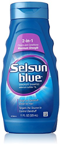 Selenium Sulfide Dandruff - Selsun Blue Medicated Dandruff Shampoo/Conditioner 2-in-1 Treatment, 11 Ounce