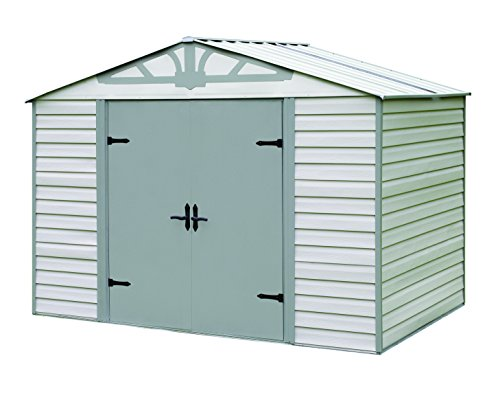 Arrow Storboss Admiral Vinyl Coated Steel Shed, 10' x 7' (Vinyl Shed Coated)