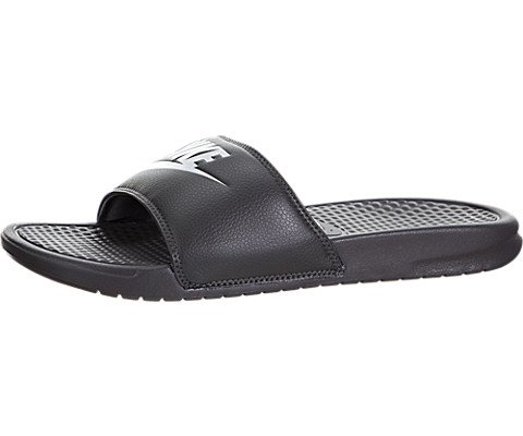 Nike Men's Benassi Just Do It Athletic Sandal, midnight fog/white, 12 D US