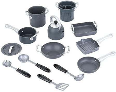 Toys R Us Just Like Home Nonstick Cookware – Grey and Black